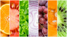 Healthy fresh food background Royalty Free Stock Photos