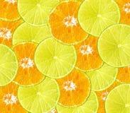 Healthy fresh food background. Lemon and orange Stock Photography