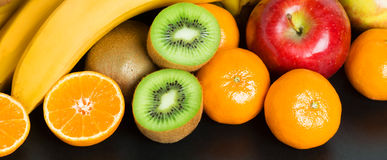 Healthy fresh fruit background Stock Photos