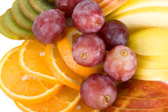 Healthy fresh fruits background Royalty Free Stock Images