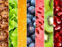 Healthy fresh fruits background Stock Photos