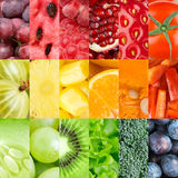 Healthy fresh fruits and vegetables backgrounds Stock Photos