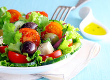 Healthy fresh Greek salad Royalty Free Stock Image