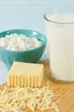 Healthy Fresh Milk And Dairy Products Royalty Free Stock Photos