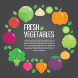 Healthy fresh organic food  background with. Vector modern illustration, stylish design element Stock Photos