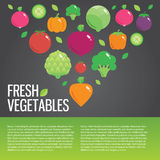 Healthy fresh organic food background with. Vector modern illustration, stylish design element stock illustration