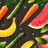 Healthy fresh organic products, advertising poster Royalty Free Stock Photo