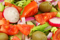 Healthy Fresh Salad background Royalty Free Stock Photography