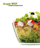 healthy fresh salad isolated Royalty Free Stock Image