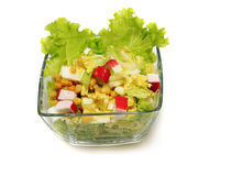 Healthy fresh salad isolated on white Royalty Free Stock Image