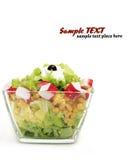 healthy fresh salad isolated on white background Stock Image