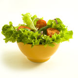 Healthy fresh salad on white background Royalty Free Stock Images