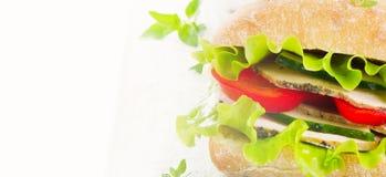 Healthy Fresh sandwich Stock Photography