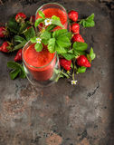 Healthy fresh strawberry smoothie. Detox concept Stock Images