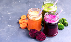Healthy and fresh vegetable smoothie Stock Photo