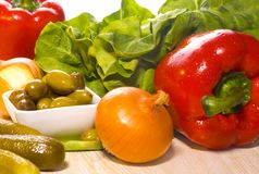 Healthy and fresh vegetables Stock Photos