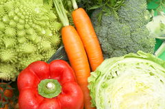 Healthy fresh vegetables. Set of healthy fresh vegetables as background royalty free stock image