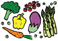 Healthy Fresh Vegetables Set Stock Image