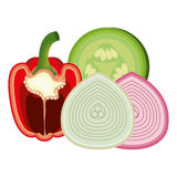 Healthy and fresh vegetables Stock Photography