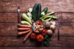 Healthy fresh vegetarian salad in a bowl, fresh raw vegetables o Stock Photo