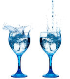 Healthy Fresh Water. Two cups of fresh water Royalty Free Stock Images