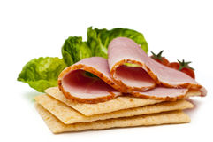 Healthy, freshly made ham sandwich Royalty Free Stock Photography