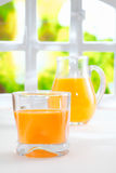 Healthy freshly squeezed orange juice Stock Photos