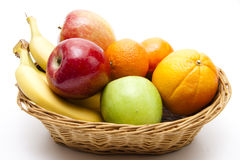 Healthy fruit in the basket Stock Photo