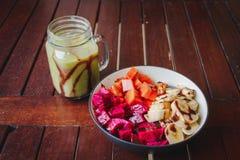 Healthy fruit breakfast Stock Photo