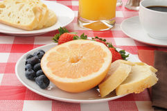 Healthy fruit breakfast Stock Images