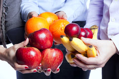 Healthy fruit choice Stock Images