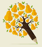 Healthy fruit concept tree Royalty Free Stock Photo