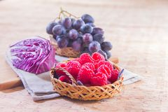 Healthy fruit and fresh food. Some fresh and healthy vegetables and fruit cuisine for cooking Royalty Free Stock Images