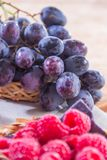 Healthy fruit and fresh food. Some fresh and healthy vegetables and fruit cuisine for cooking Royalty Free Stock Photo