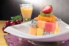 Healthy fruit and fresh food. Some fresh and healthy vegetables and fruit cuisine for cooking Stock Images