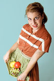 Healthy Fruit Girl stock photo