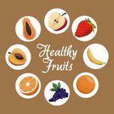 Healthy fruit harvest food poster Royalty Free Stock Photo