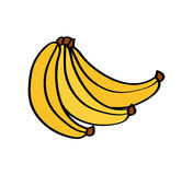 Healthy fruit icon. Bananas fruit icon over white background. colorful design. vector illustration Royalty Free Stock Photography
