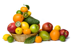Healthy fruit isolated on white Stock Photos
