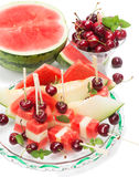 Healthy fruit mix salad Stock Photo
