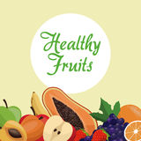 Healthy fruit nutrition concept. Illustration eps 10 Stock Image