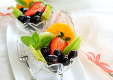 Healthy Fruit salad. With varieties of fruits in a bowl Stock Photography