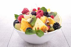 Healthy fruit salad Stock Image
