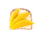 Healthy fruit sandwich Royalty Free Stock Image