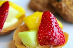 Healthy fruit tarts Royalty Free Stock Image