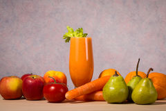 Healthy fruit and vegetable smoothie Stock Image