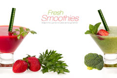 Healthy fruit and vegetable smoothies. Healthy Eating and Diet C Stock Photo
