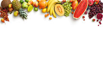 Healthy fruits background. Studio photo of different fruits stock images