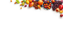 Healthy fruits background. Studio photo of different fruits. royalty free stock photo