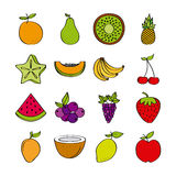 Healthy fruits design Royalty Free Stock Image